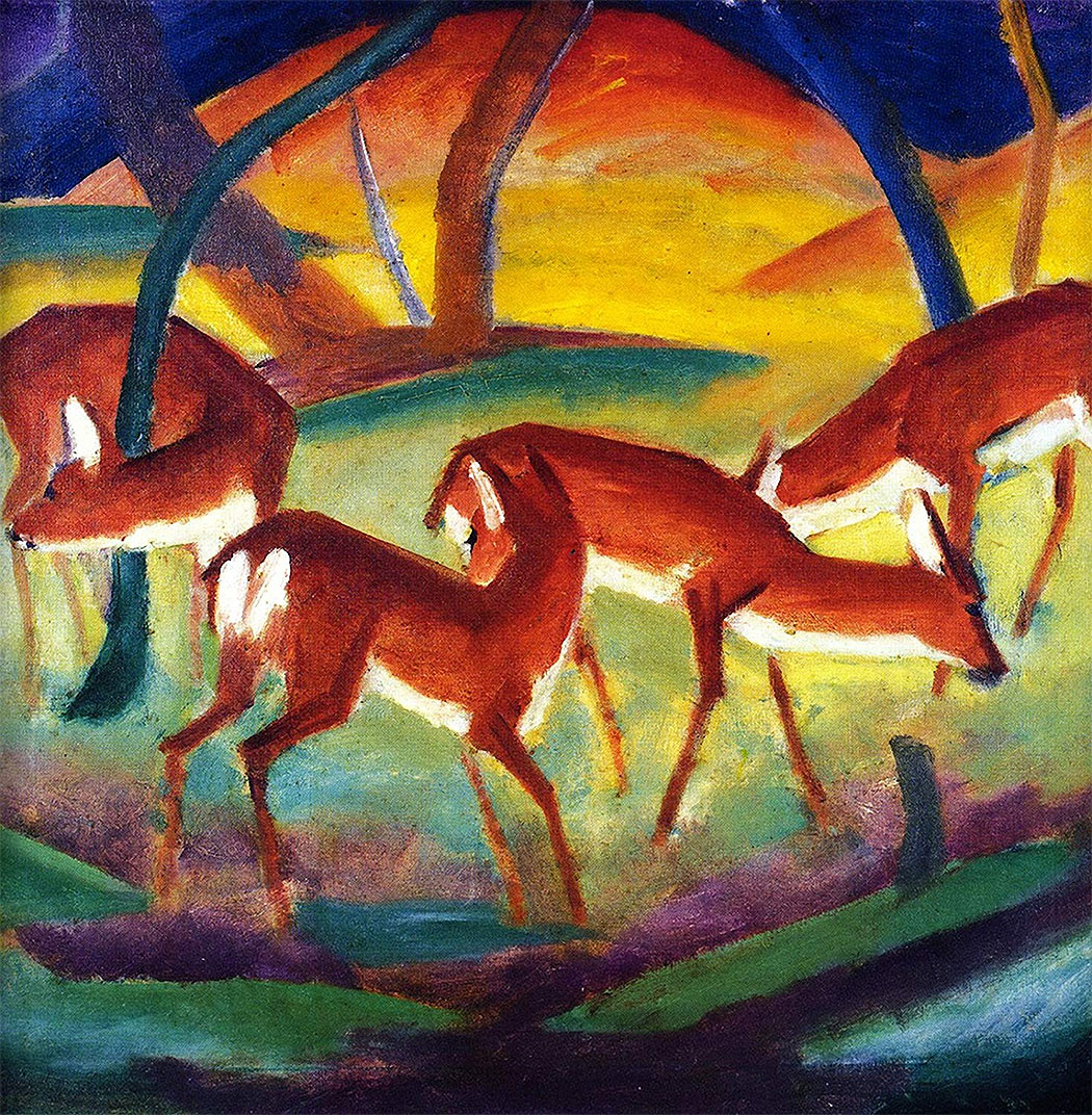 Red Deer I by Franz Marc Giclee Canvas Print