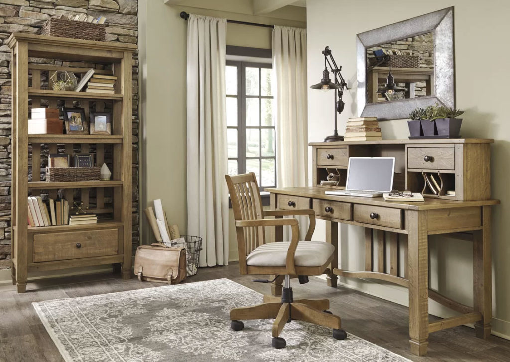 Rustic Country Home Office Design