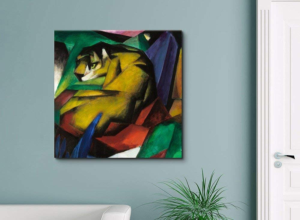 The Tiger by Franz Marc Canvas Art Print