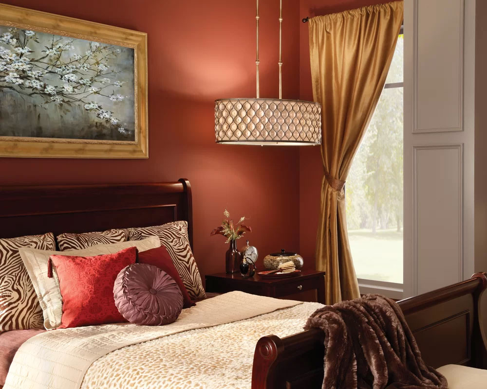 Traditional Elegance Rust Red Bedroom