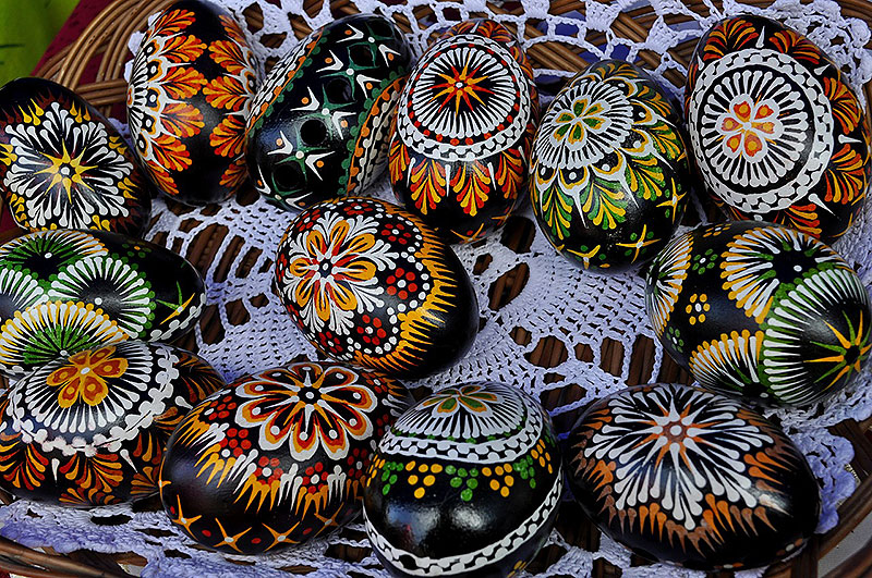 Black Painted Easter Eggs