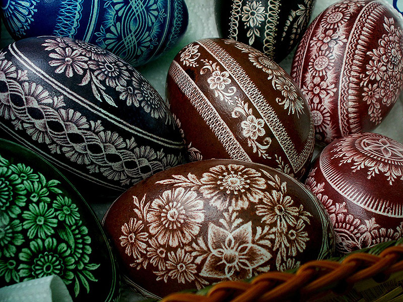 Elegant Hand Painted Easter Eggs