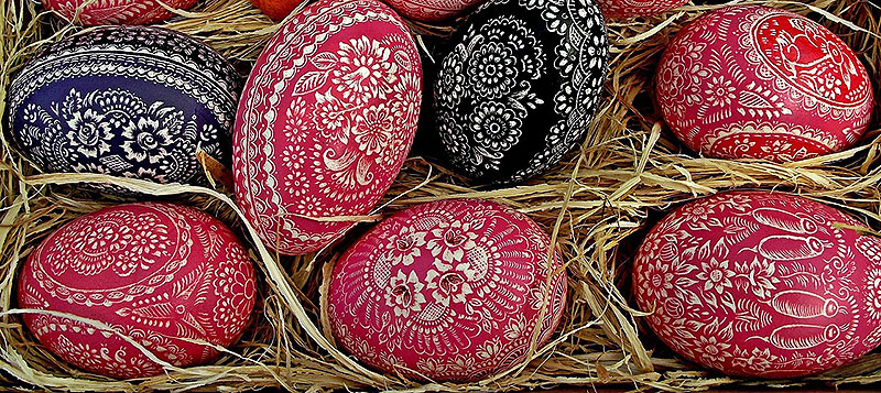 Handcrafted Painted Easter Eggs
