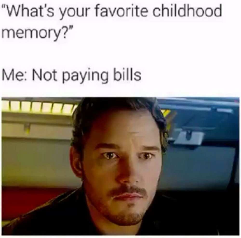 Personal & Home Finance Meme |  Favorite Childhood Memory