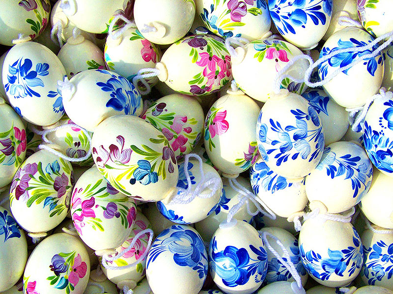 Hand-Painted Floral Easter Eggs