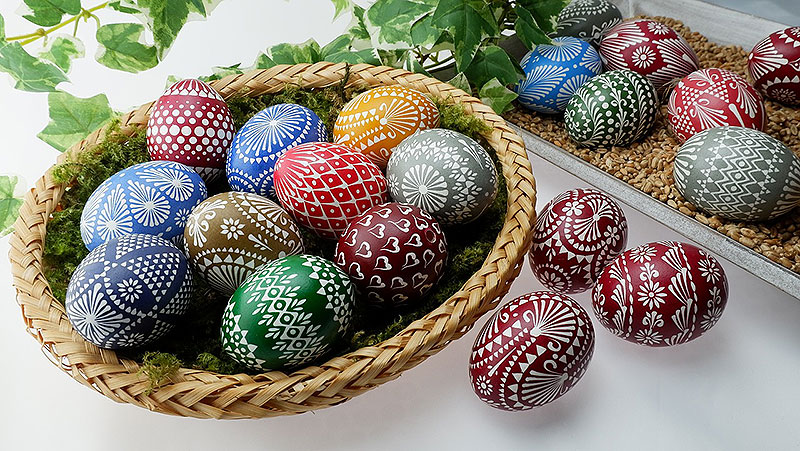 Beautiful Sorbian Painted Easter Eggs