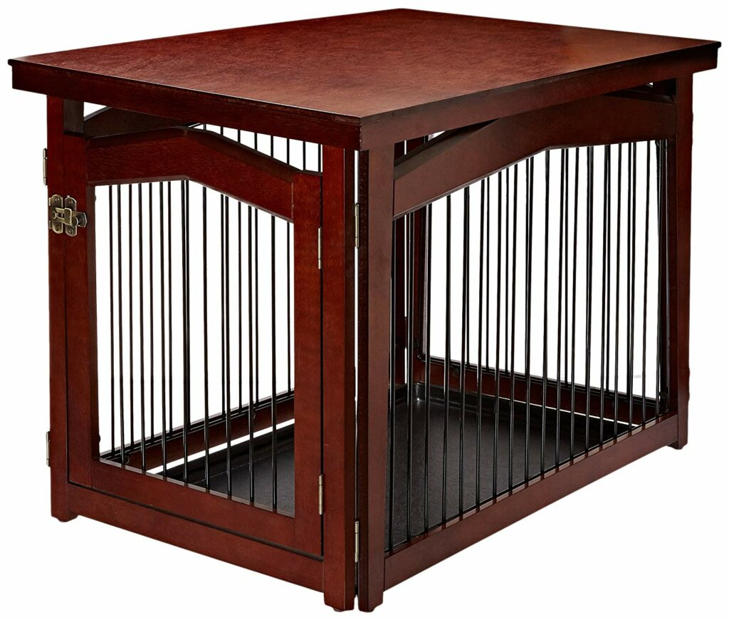 2-in-1 Configurable Decorative Dog Crate & Gate