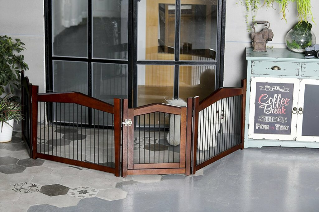 2-in-1 Configurable Decorative Pet Crate & Gate