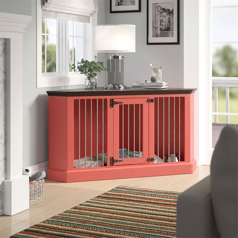 Corner Credenza Dog Crate Furniture
