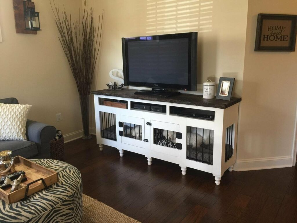 Custom Dog Crate TV Stand