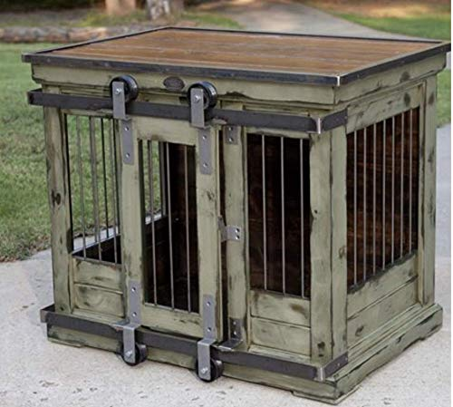 Custom Farmhouse Style Dog Crate