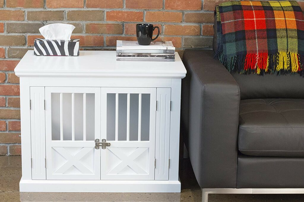 Dutch Door Design White Decorative Dog Crate