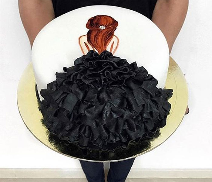 Black Gown Cake