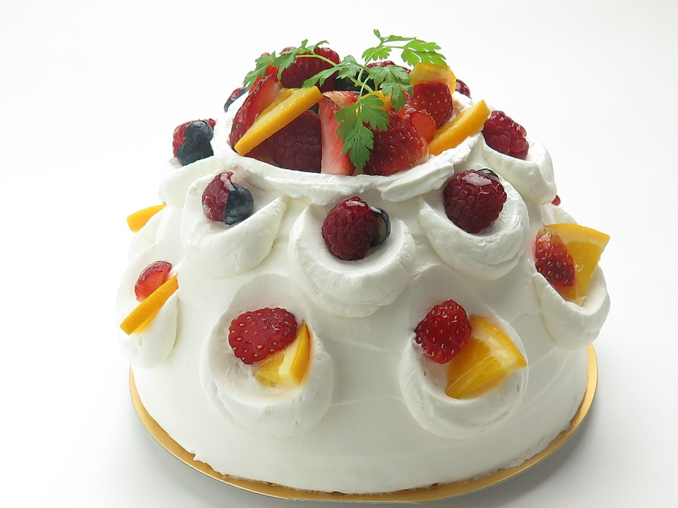 Fruit Shortcake Birthday Cake