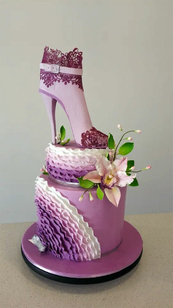 High Heel Shoe Birthday Cake