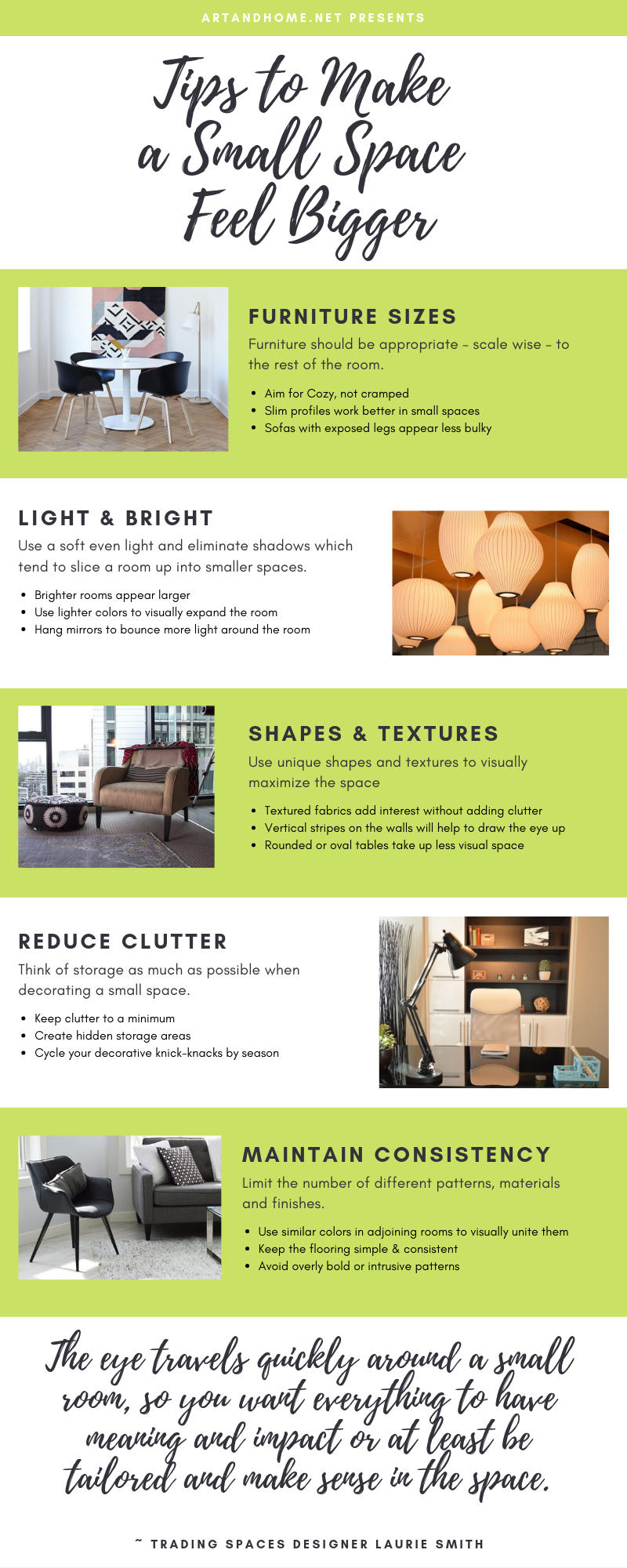 Home Decor Infographics | Small Space Decor Tips