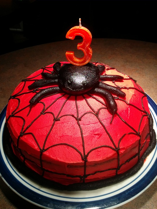Spiderman Kids Birthday Cake