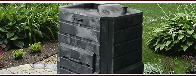 Basic Black Outdoor Composter