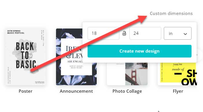 Choosing Custom Dimensions for your DIY Canvas Artwork in Canva