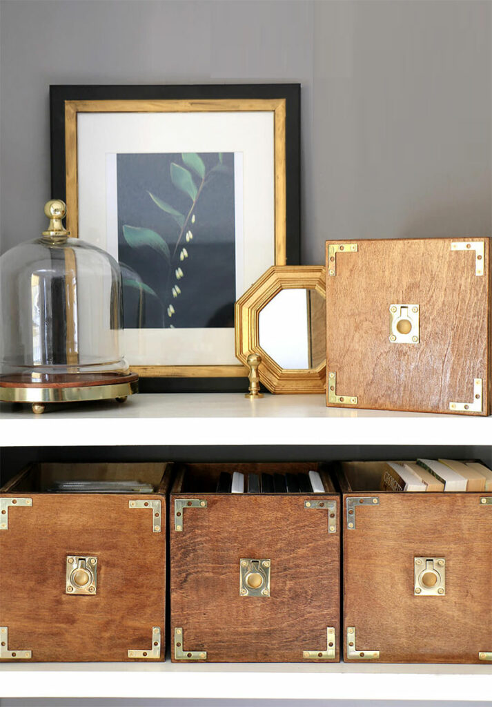 DIY Campaign Style Storage Boxes