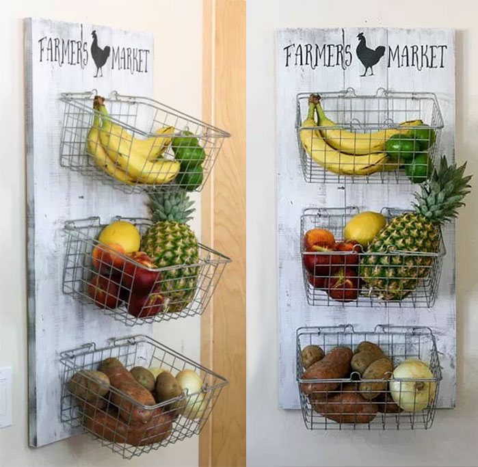 DIY Farmhouse Produce Rack