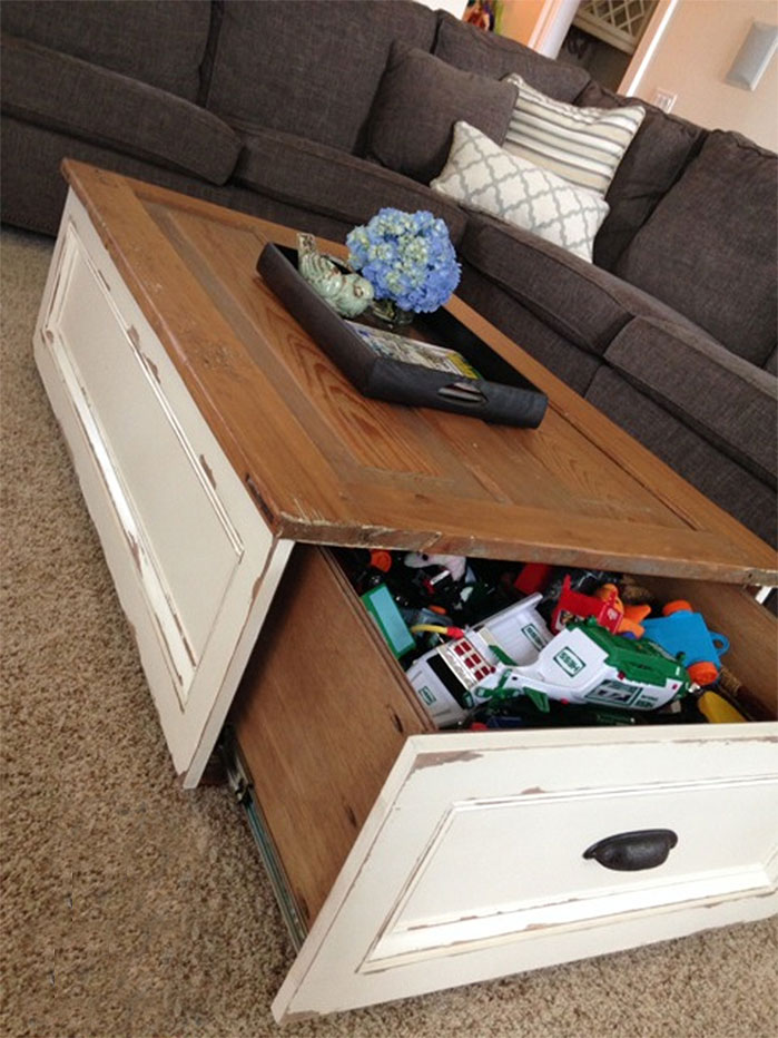 DIY Storage Coffee Table