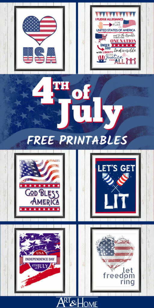 Fun & Free Fourth of July Printables to help you celebrate Independence Day in Style!