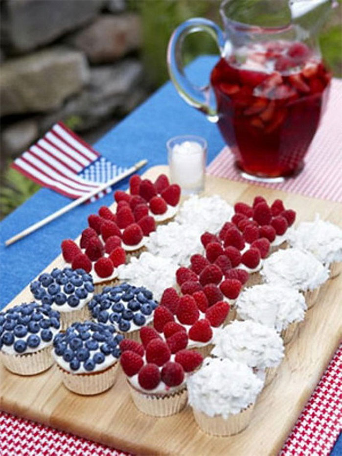Fruity Fourth of July Cupcakes