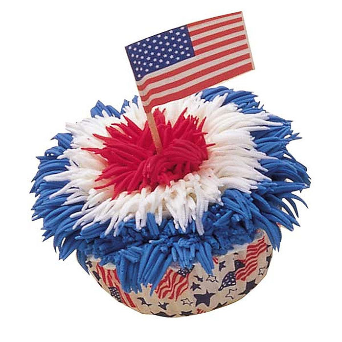 Our Flag Was Still There Patriotic Cupcake