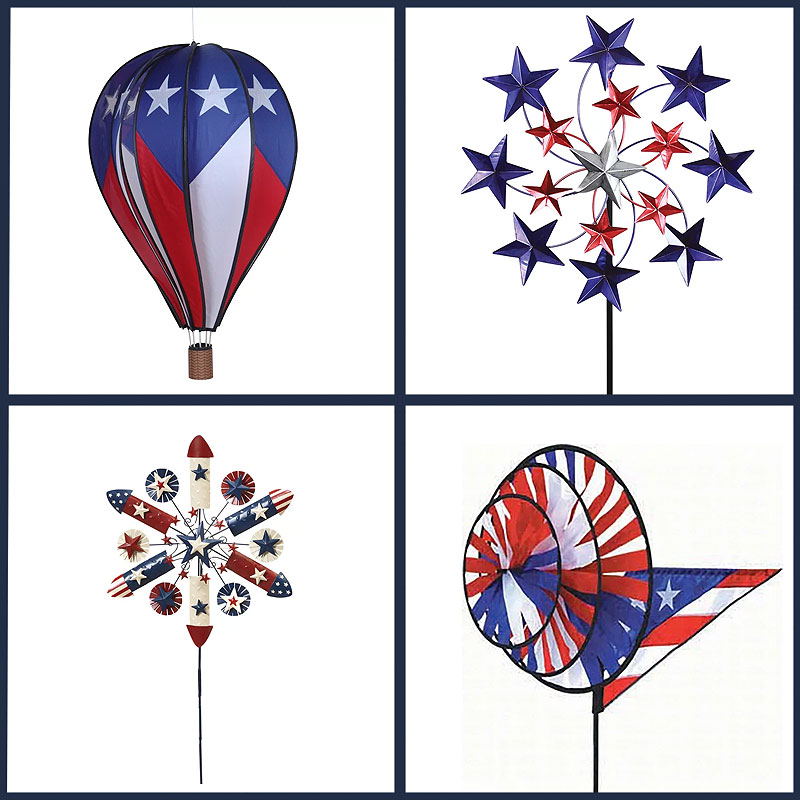 Patriotic 4th of July Spinners