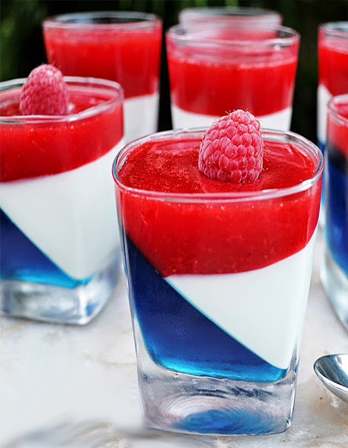 Red White and Blue Jello Party Cups