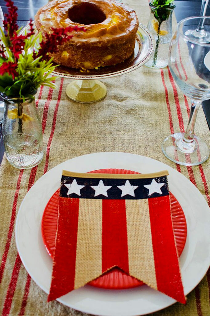 Southern Style 4th of July Tablescape