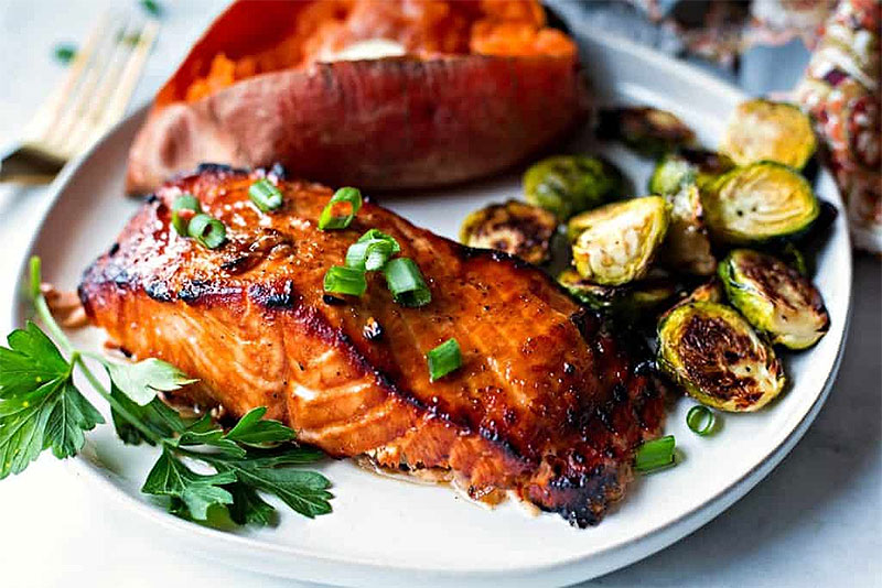 Soy, Garlic & Brown Sugar Grilled Salmon Recipe