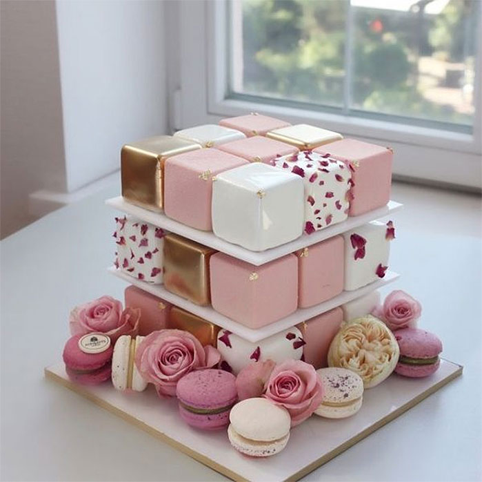 Stacked Boxes Birthday Cake