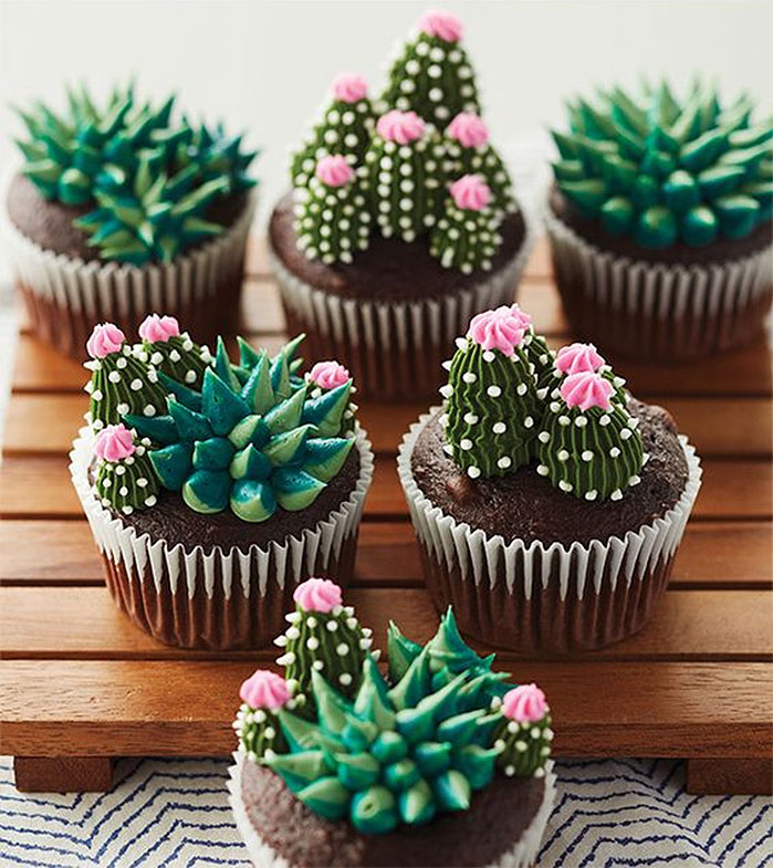 Blooming Succulents Cupcakes