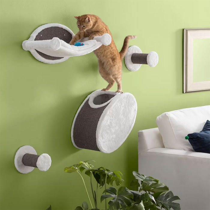 Cool Wall Mounted Cat Tree