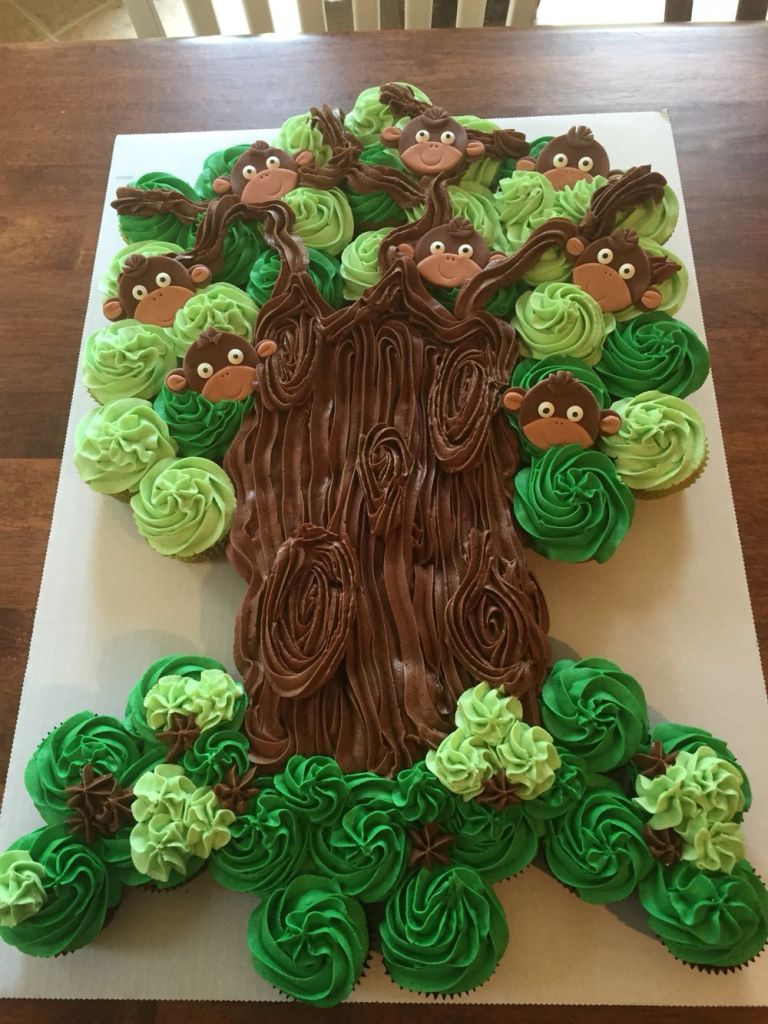 Cupcake Tree with Monkeys