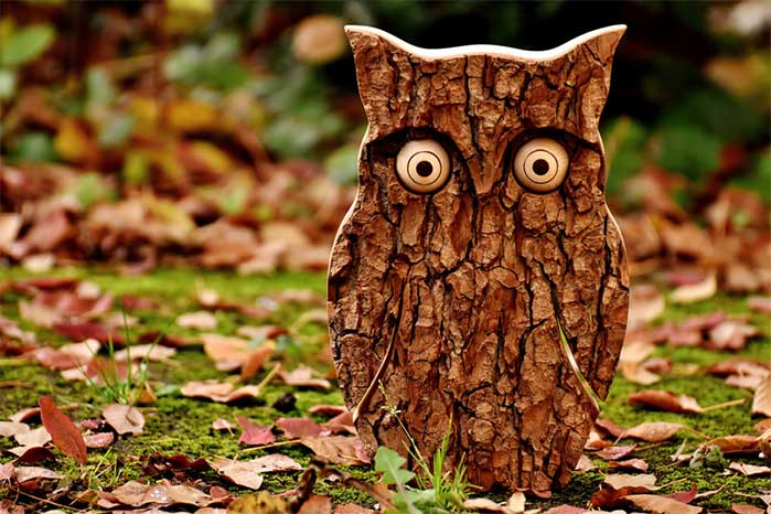 DIY Cut Bark Owl