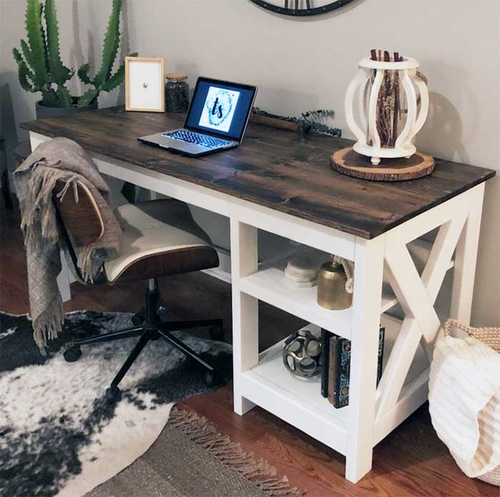 DIY Farmhouse X Desk
