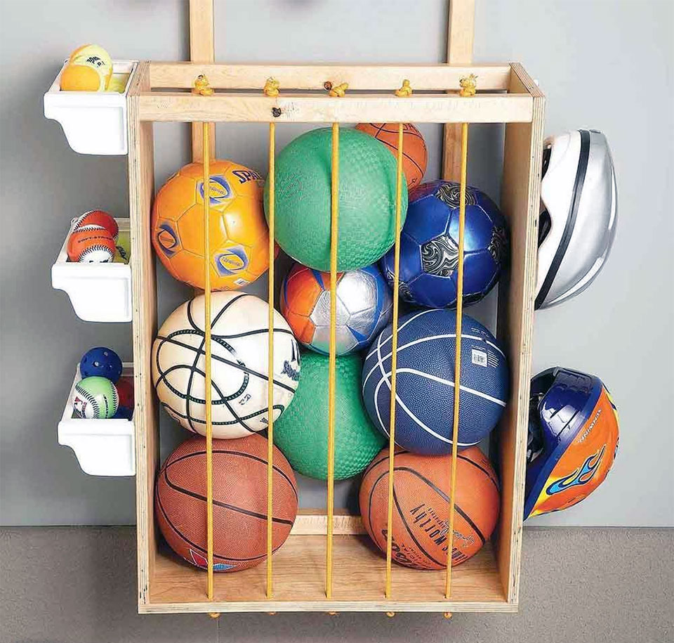 DIY Garage Hacks | DIY Sports Ball Corral