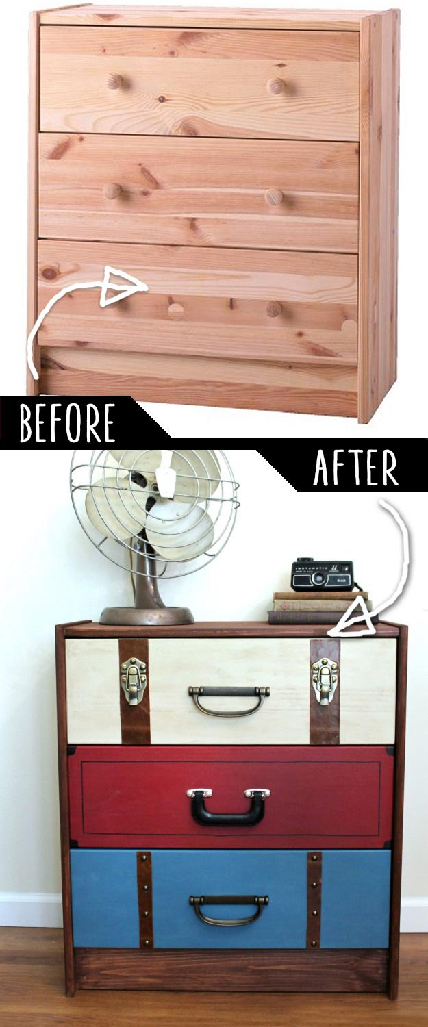 DIY Suitcase Dresser Makeover
