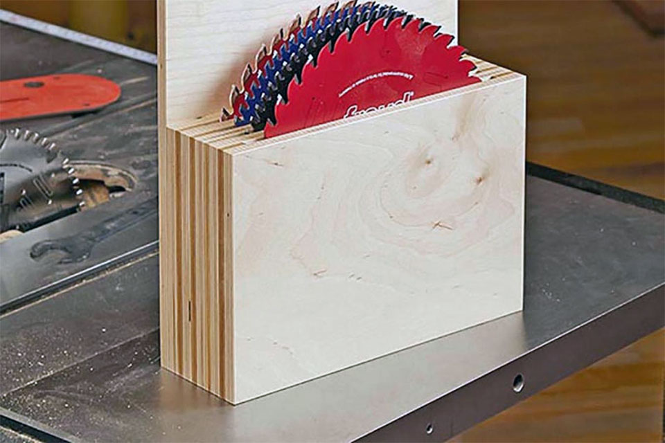 DIY Wood Saw Blade Caddy