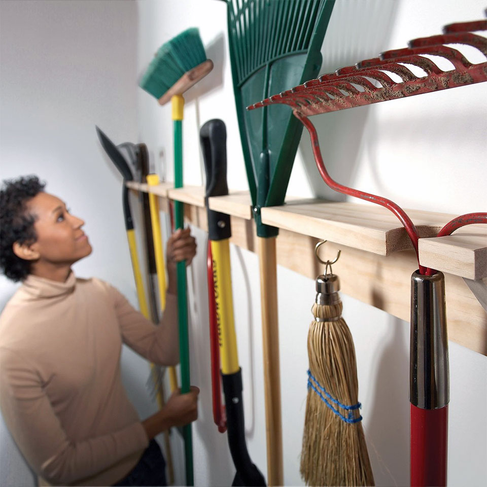DIY Garage Hacks | Yard & Garden Tool Organizer