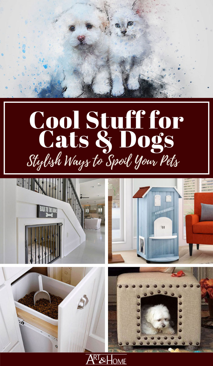 Some fresh ideas on how to incorporate decorative pet products & design ideas into your home that are both functional and attractive.