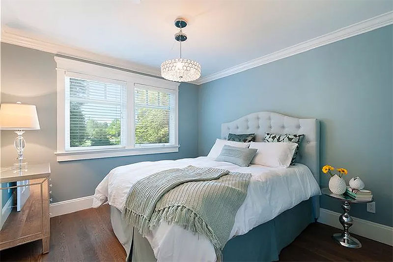 Muted Blue Bedroom Walls