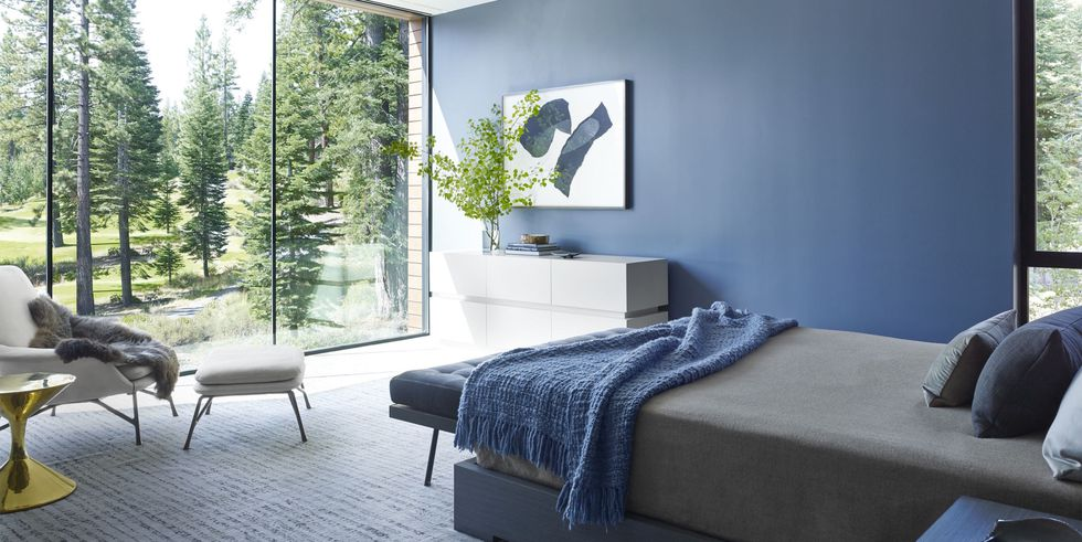 One With Nature Blue Bedrooom Design