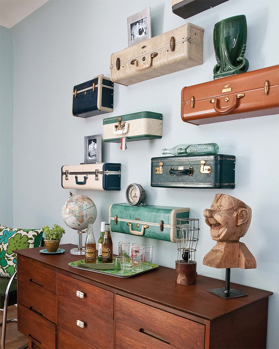 Recycling Old Suitcases into Wall Shelves