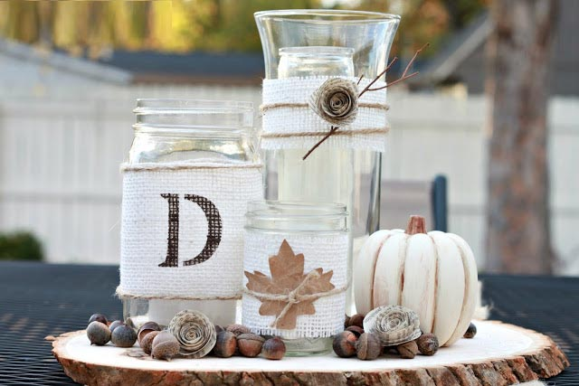 Rustic DIY Fall Centerpiece