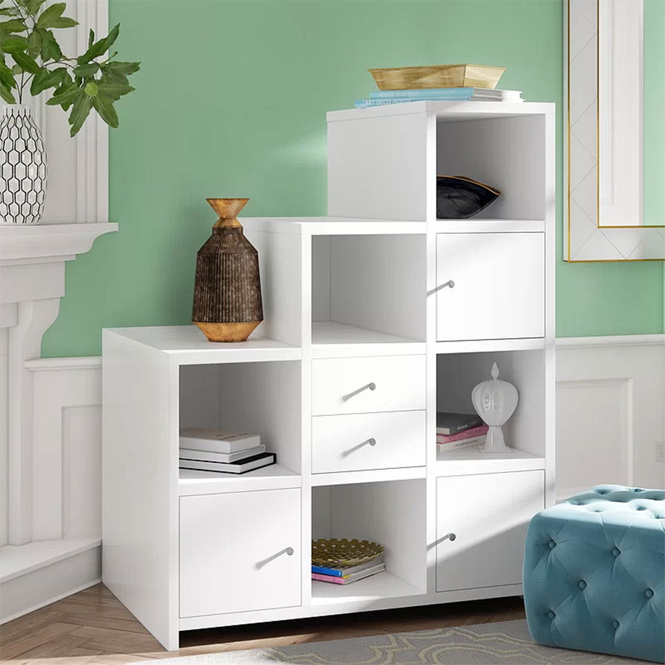 Stairstep Cube Shelving Unit