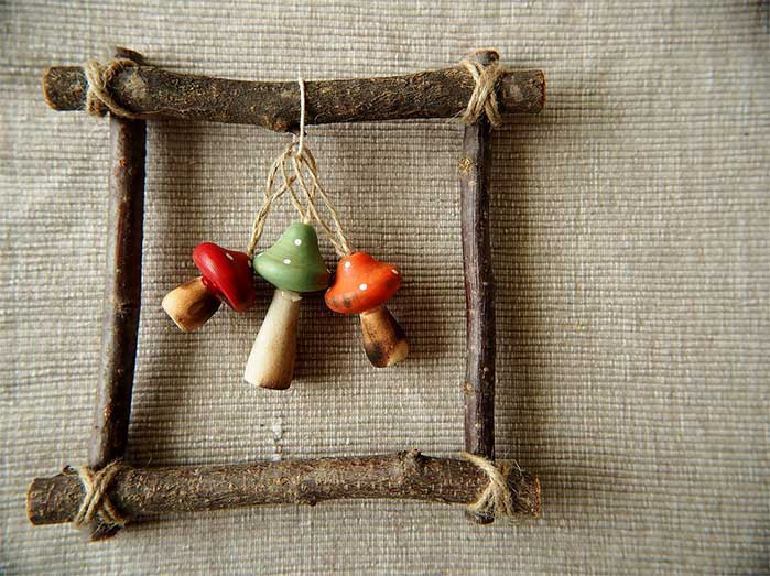 Twigs & Mushrooms DIY Fall Decor